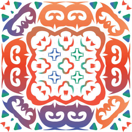 Traditional ornate mexican talavera. Modern design. Vector seamless pattern theme. Red abstract background for web backdrop, print, pillows, surface texture, wallpaper, towels. Foto de archivo - 133432712