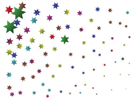 Abstract falling stars for holidays. Fashionable design elements. Vector illustration. Multicolor trendy modern elegant background for anniversary, birthday celebrate or other festive event.