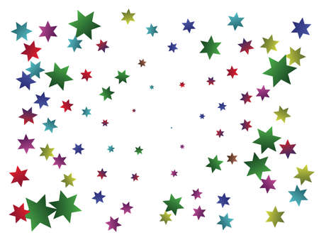 Abstract falling stars for holidays. New design elements. Vector illustration. Multicolor trendy modern elegant background for anniversary, birthday celebrate or other festive event.
