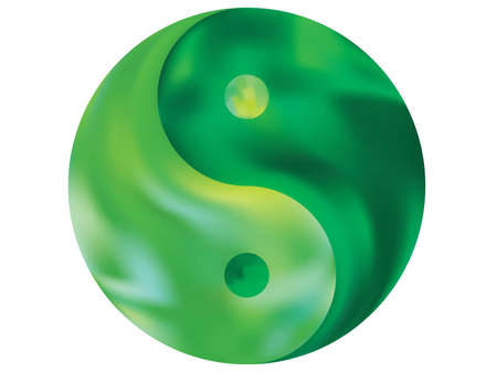 Smooth background in the form of yin yang. Isolated original liquid theme. Trendy soft color pastel. Green elegant and easy editable colorful fluid cover for your creative projects.
