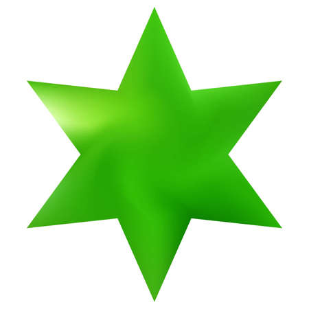 Colorful background in the form of hexagram. Trendy soft color polygon. Judaic sacred religious symbol. Green elegant and effective, smooth blurred modern gradient cover.