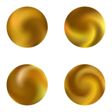 Kit with round colored abstract backgrounds. Isolated retro style of 80th. Trendy soft color sphere. Yellow modern, natural covers for your creative projects and graphic design.