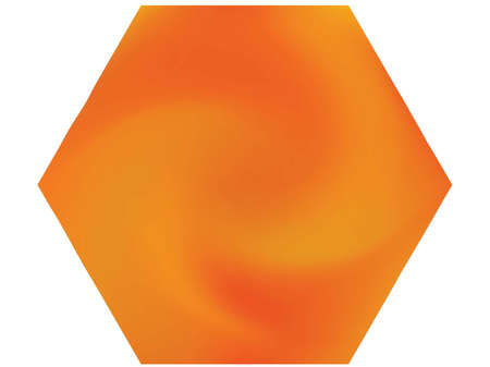 Hexagonal blurred background. Minimal backdrop in style of 90th, 80th, 70h. Trendy soft color polygon. Orange modern abstract cover for your graphic design or creative projects.