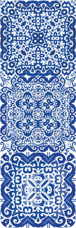 Ornamental azulejo portugal tiles decor. Stylish design. Vector seamless pattern texture. gorgeous flower folk print for linens, smartphone cases, scrap booking, bags or T-shirts.