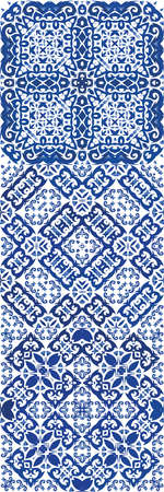 Portuguese vintage azulejo tiles. Vector seamless pattern template. Creative design. antique background for pillows, print, wallpaper, web backdrop, towels, surface texture.