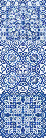 Traditional ornate portuguese azulejo. Vector seamless pattern illustration. Fashionable design. abstract background for web backdrop, print, pillows, surface texture, wallpaper, towels. Illustration