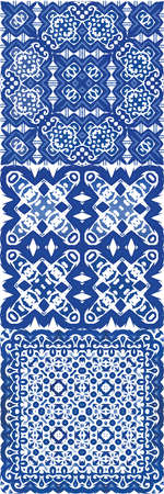 Antique portuguese azulejo ceramic. Vector seamless pattern trellis. Graphic design. floral and abstract decor for scrap booking, smartphone cases, T-shirts, bags or linens.