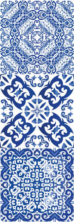 Portuguese ornamental azulejo ceramic. Stylish design. Vector seamless pattern texture. vintage backdrop for wallpaper, web background, towels, print, surface texture, pillows.