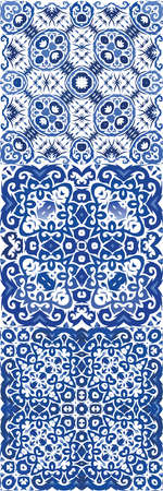 Traditional ornate portuguese azulejo. Creative design. Vector seamless pattern flyer. abstract background for web backdrop, print, pillows, surface texture, wallpaper, towels. Illustration