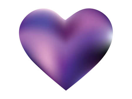 Blurred background in the form of a heart. Surreal style of 90th, 80th. Soft color effect. Violet modern abstract cover for your graphic design or creative projects.