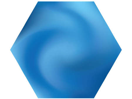 Hexagonal chromatic background. Trendy soft color pearl. Flat backdrop in style of 90th, 80th, 70h. Blue effective modern screen design for brochure, calendar, cards or invitation. Standard-Bild - 134891570
