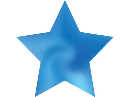 Smooth background in the form of pentagram. Futuristic style of 90th, 80th. Trendy soft color effect. Blue elegant and easy editable colorful fluid cover for your creative projects. Standard-Bild - 134891576