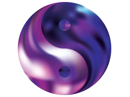 Chromatic background in the form of yin yang. Flat original liquid theme.