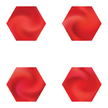 Collection of hexagonal mesh backgrounds. Trendy soft color. Popular style of 90th, 80th. Red celebration templates for your cards, invitation, brochure and calendar.