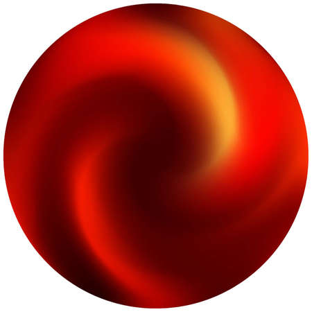 Modern round smooth background. Popular backdrop in style of 90th, 80th. Trendy soft color theme. Red elegant and easy editable colorful fluid cover for your creative projects.