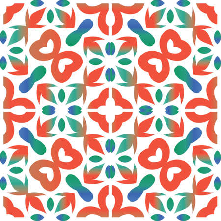 Ornamental talavera mexico tiles decor. Vector seamless pattern trellis. Hand drawn design. Red gorgeous flower folk print for linens, smartphone cases, scrapbooking, bags or T-shirts.