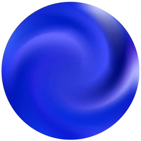 Round smooth blurred background. Trendy soft color pearl. Surreal backdrop in style of 90th, 80th. Blue modern abstract cover for your graphic design or creative projects. Vectores