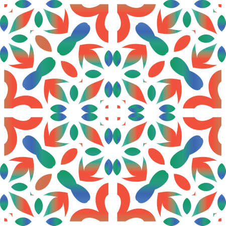 Ornamental talavera mexico tiles decor. Vector seamless pattern template. Minimal design. Red gorgeous flower folk print for linens, smartphone cases, scrapbooking, bags or T-shirts.