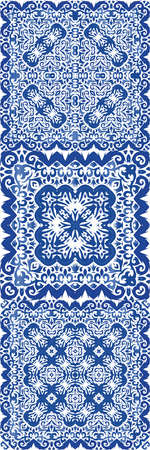 Portuguese vintage azulejo tiles. Vector seamless pattern concept. Fashionable design. antique background for pillows, print, wallpaper, web backdrop, towels, surface texture.