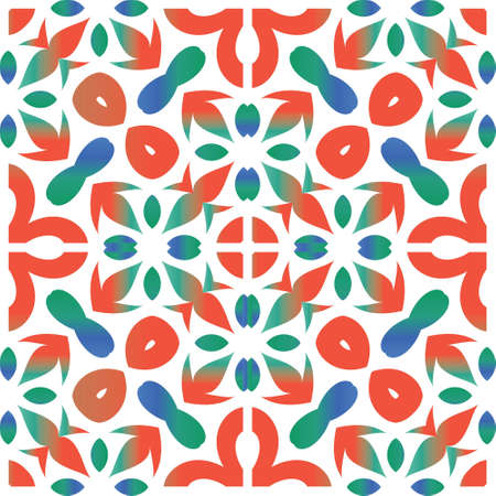 Antique ornate tiles talavera mexico. Fashionable design. Vector seamless pattern concept. Red ethnic background for T-shirts, scrapbooking, linens, smartphone cases or bags.