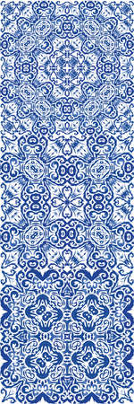 Ornamental azulejo portugal tiles decor. Vector seamless pattern template. Creative design. gorgeous flower folk print for linens, smartphone cases, scrapbooking, bags or T-shirts.