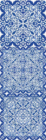 Ornamental azulejo portugal tiles decor. Vector seamless pattern poster. Colored design. gorgeous flower folk print for linens, smartphone cases, scrapbooking, bags or T-shirts. Çizim