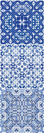 Ceramic tiles azulejo portugal. Vector seamless pattern flyer. Minimal design. ethnic background for T-shirts, scrapbooking, linens, smartphone cases or bags.