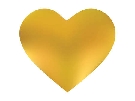 Gradient background in the form of a heart. Trendy style of 90th, 80th. Soft color icon. Yellow modern, natural cover for your creative projects and graphic design.