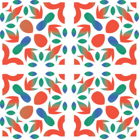 Traditional ornate mexican talavera. Vector seamless pattern theme. Hand drawn design. Red abstract background for web backdrop, print, pillows, surface texture, wallpaper, towels.