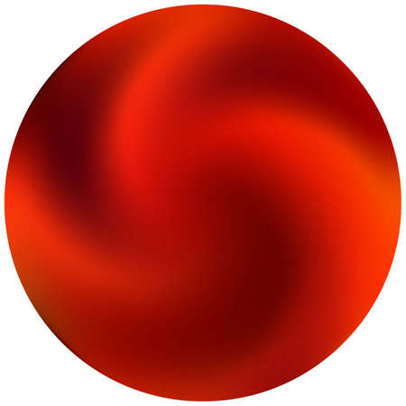 Modern round smooth background. Trendy soft color element. Neon backdrop in style of 90th, 80th. Red elegant and easy editable colorful fluid cover for your creative projects.