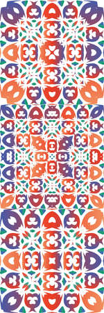 Antique mexican talavera ceramic. Universal design. Collection of vector seamless patterns. Red floral and abstract decor for scrapbooking, smartphone cases, T-shirts, bags or linens.