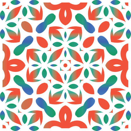 Traditional ornate mexican talavera. Vector seamless pattern elements. Stylish design. Red abstract background for web backdrop, print, pillows, surface texture, wallpaper, towels.