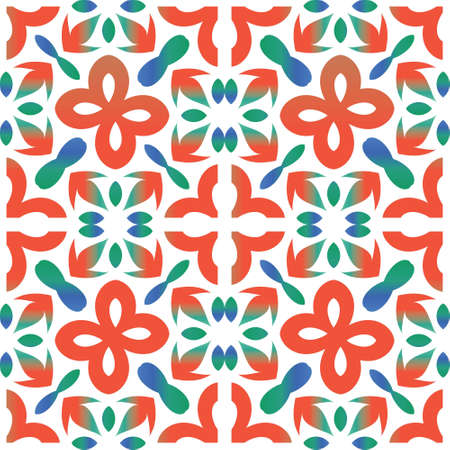 Ornamental talavera mexico tiles decor. Graphic design. Vector seamless pattern flyer. Red gorgeous flower folk print for linens, smartphone cases, scrapbooking, bags or T-shirts. Çizim