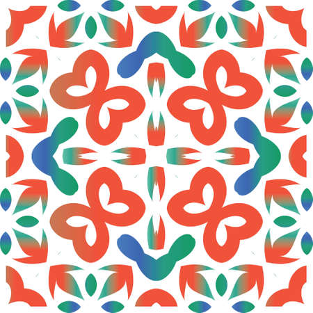 Ornamental talavera mexico tiles decor. Vector seamless pattern poster. Kitchen design. Red gorgeous flower folk print for linens, smartphone cases, scrapbooking, bags or T-shirts.