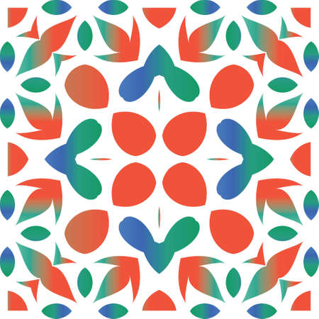 Ornamental talavera mexico tiles decor. Vector seamless pattern arabesque. Fashionable design. Red gorgeous flower folk print for linens, smartphone cases, scrapbooking, bags or T-shirts.