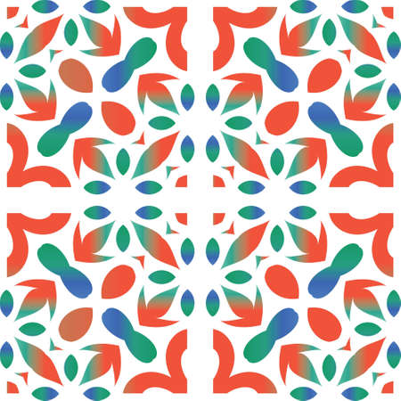 Antique mexican talavera ceramic. Vector seamless pattern collage. Creative design. Red floral and abstract decor for scrapbooking, smartphone cases, T-shirts, bags or linens.