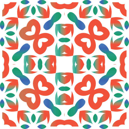 Traditional ornate mexican talavera. Graphic design. Vector seamless pattern trellis. Red abstract background for web backdrop, print, pillows, surface texture, wallpaper, towels.
