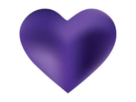 Colorful background in the form of a heart. Holographic style of 90th, 80th. Soft color logo. Violet elegant and effective, smooth blurred modern gradient cover. Vectores