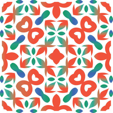 Traditional ornate mexican talavera. Fashionable design. Vector seamless pattern collage. Red abstract background for web backdrop, print, pillows, surface texture, wallpaper, towels.