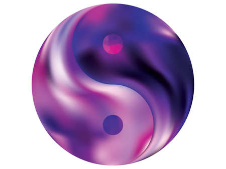 Smooth background in the form of yin yang. Trendy soft color art. Creative original liquid theme. Violet elegant and easy editable colorful fluid cover for your creative projects.