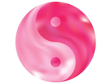 Blurred background in the form of yin yang. Buddhist original liquid theme. Trendy soft color backdrop. Pink modern abstract cover for your graphic design or creative projects.