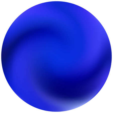 Round smooth blurred background. Trendy soft color element. Romantic backdrop in style of 90th, 80th. Blue modern abstract cover for your graphic design or creative projects.