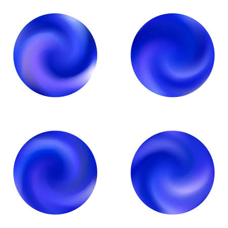 Gradients kit with round smooth backgrounds. Minimal retro style of 80th. Trendy soft color sphere. Blue elegant and easy editable colorful fluid covers for your creative projects.