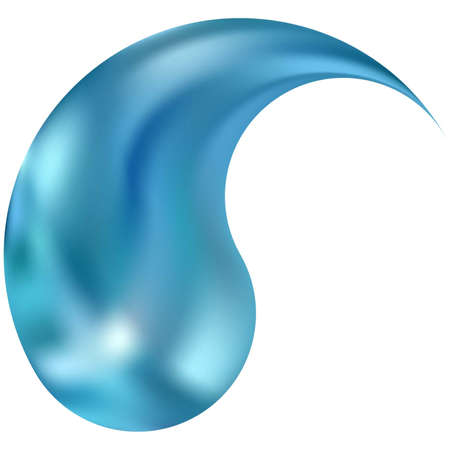 Colored background in the form of yin or yang. Trendy soft color symbol. Isolated original east style. Blue eco fluid template for your poster, presentation, invitation, brochure or cards.