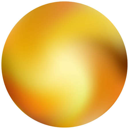 Round smooth blurred background. Holographic backdrop in style of 90th, 80th. Trendy soft color pastel. Orange modern abstract cover for your graphic design or creative projects.