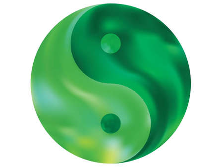 Chromatic background in the form of yin yang. Trendy soft color backdrop. Isolated original liquid theme. Green effective modern screen design for brochure, calendar, cards or invitation.