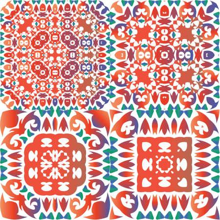 The traditional ornate motive in ceramic tile.
