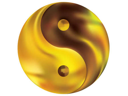 Colorful background in the form of yin yang. Trendy soft color effect. Traditional original liquid theme. Yellow elegant and effective, smooth blurred modern gradient cover.