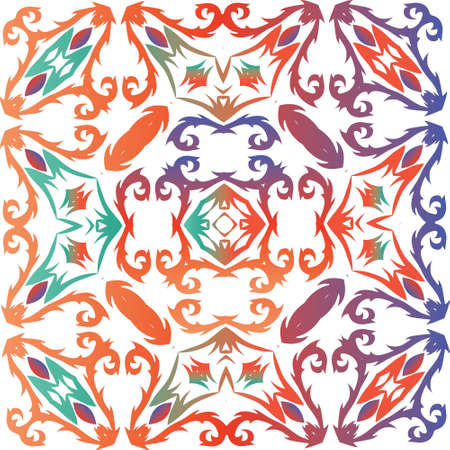 Ornamental talavera mexico tiles decor. Vector seamless pattern frame. Modern design. Red gorgeous flower folk print for linens, smartphone cases, scrapbooking, bags or T-shirts.