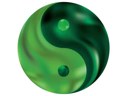 Gradient background in the form of yin yang. Creative original liquid theme. Trendy soft color symbol. Green modern, natural cover for your creative projects and graphic design.
